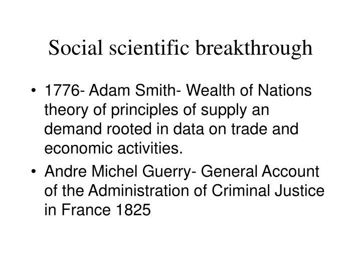 Social scientific breakthrough