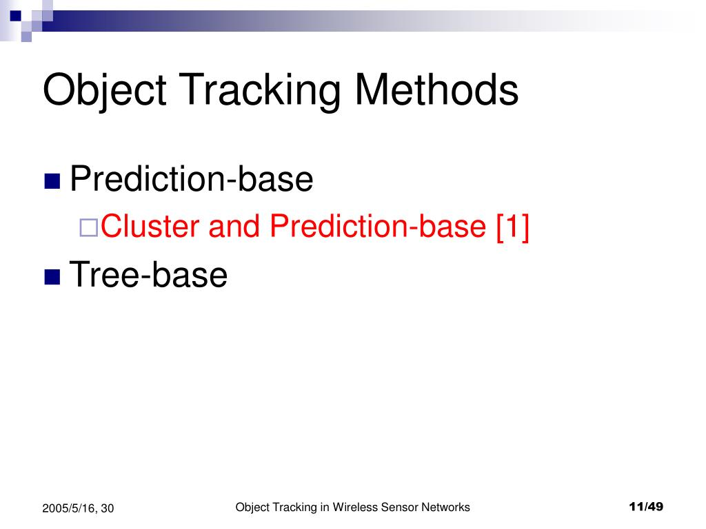 Object Tracking Methods