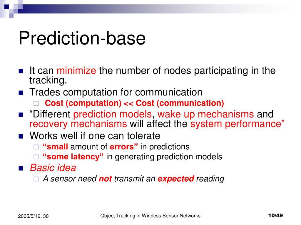 Prediction-base
