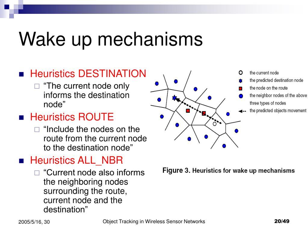 Wake up mechanisms