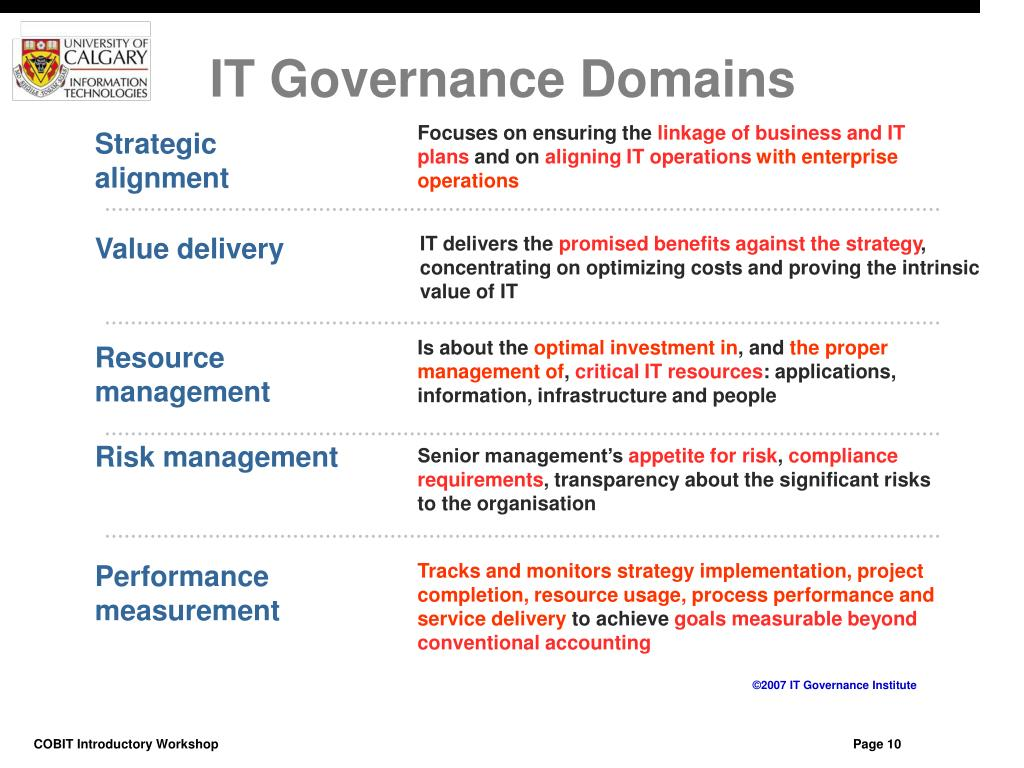 IT Governance Domains