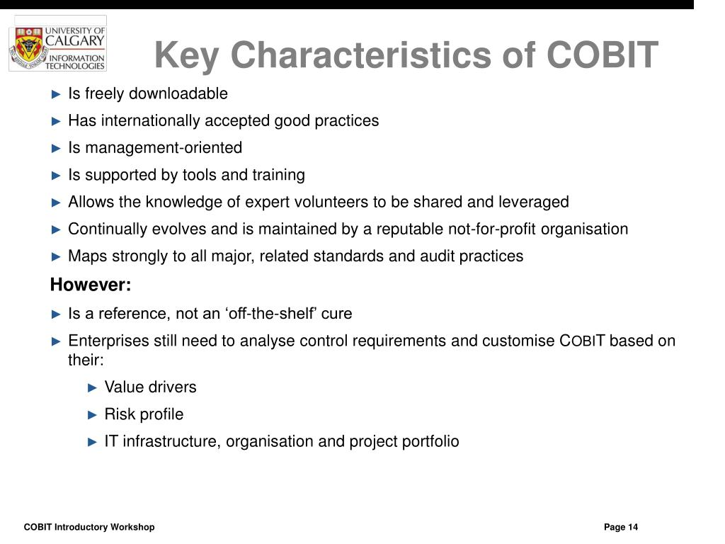 Key Characteristics of COBIT