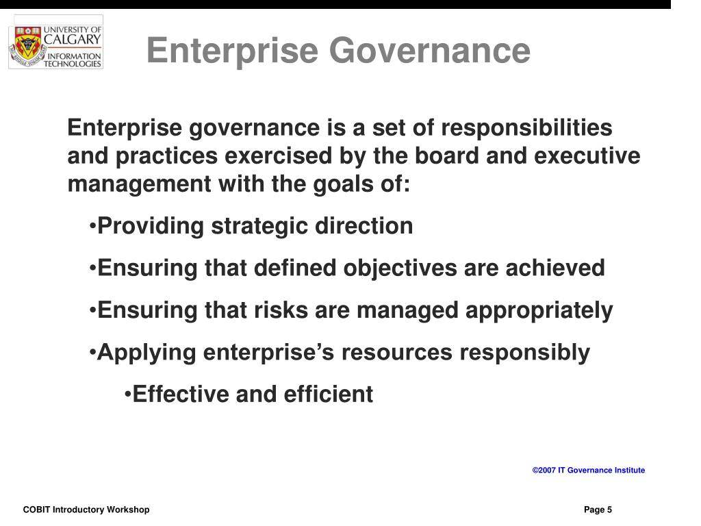 Enterprise Governance