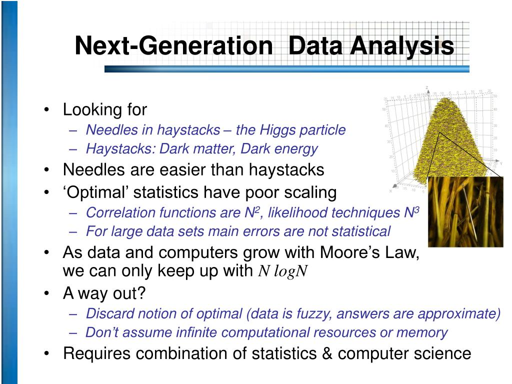 Next-Generation  Data Analysis
