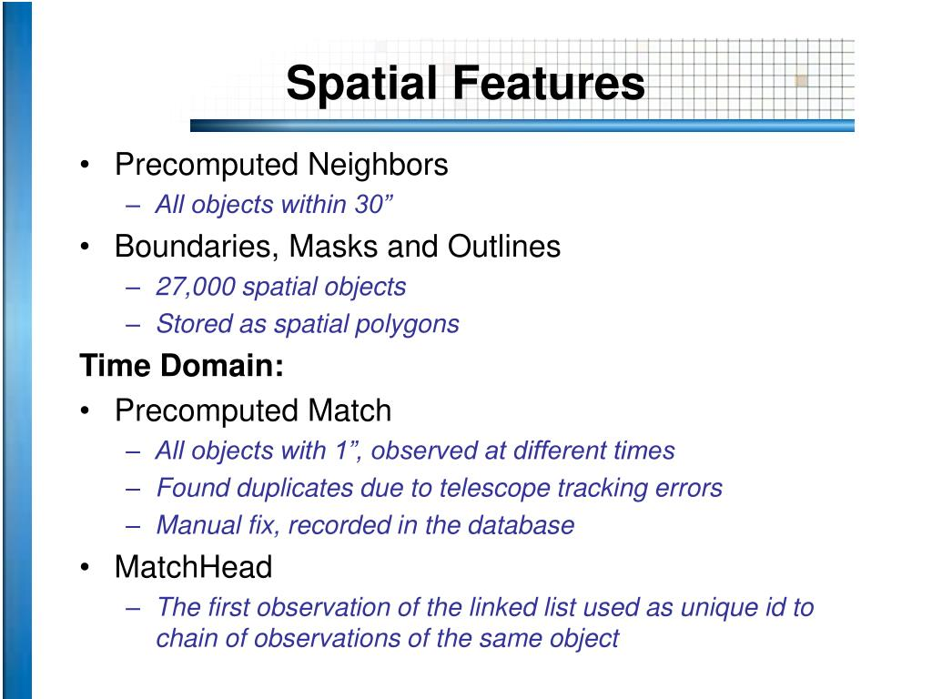 Spatial Features
