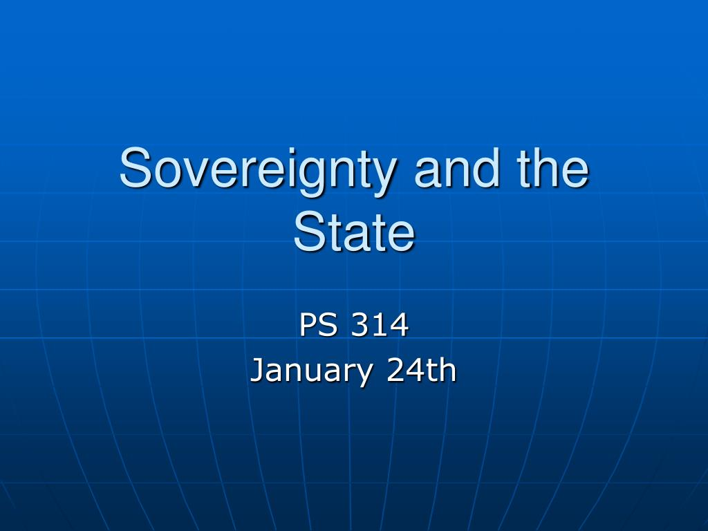 sovereignty and the state l.