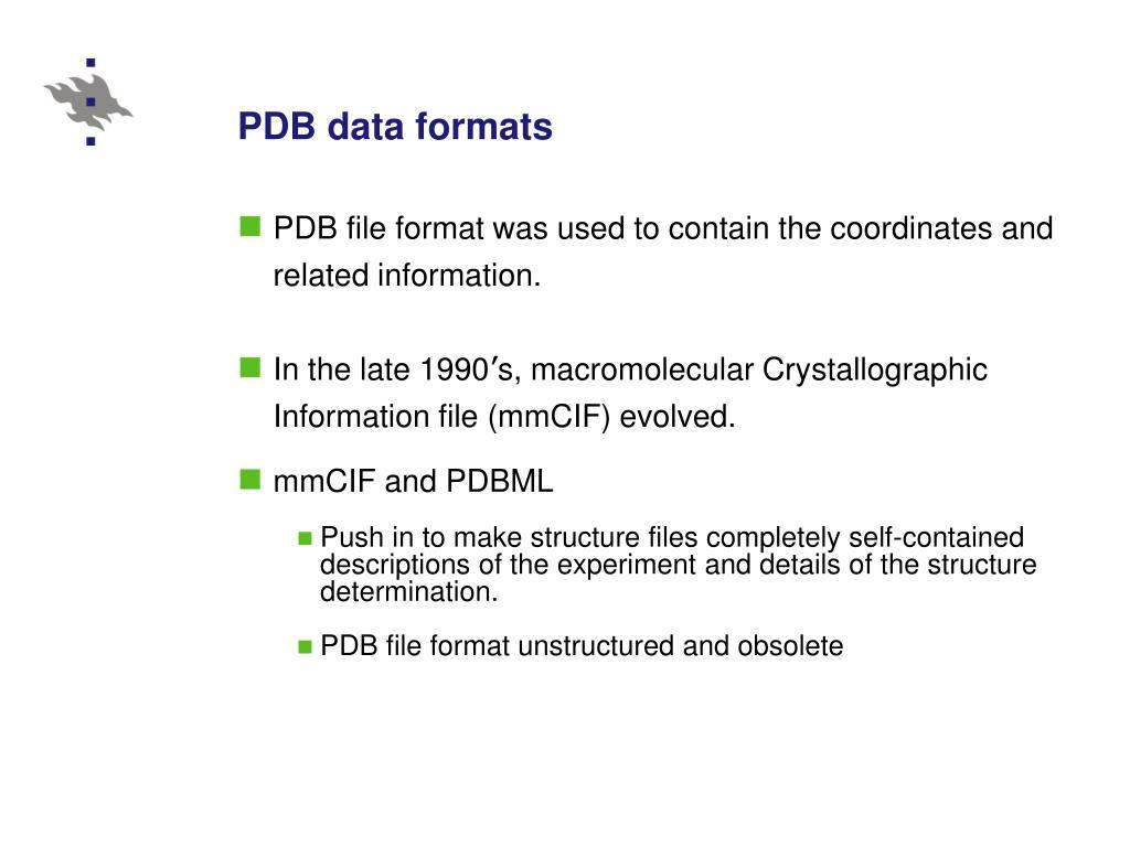 PDB data formats