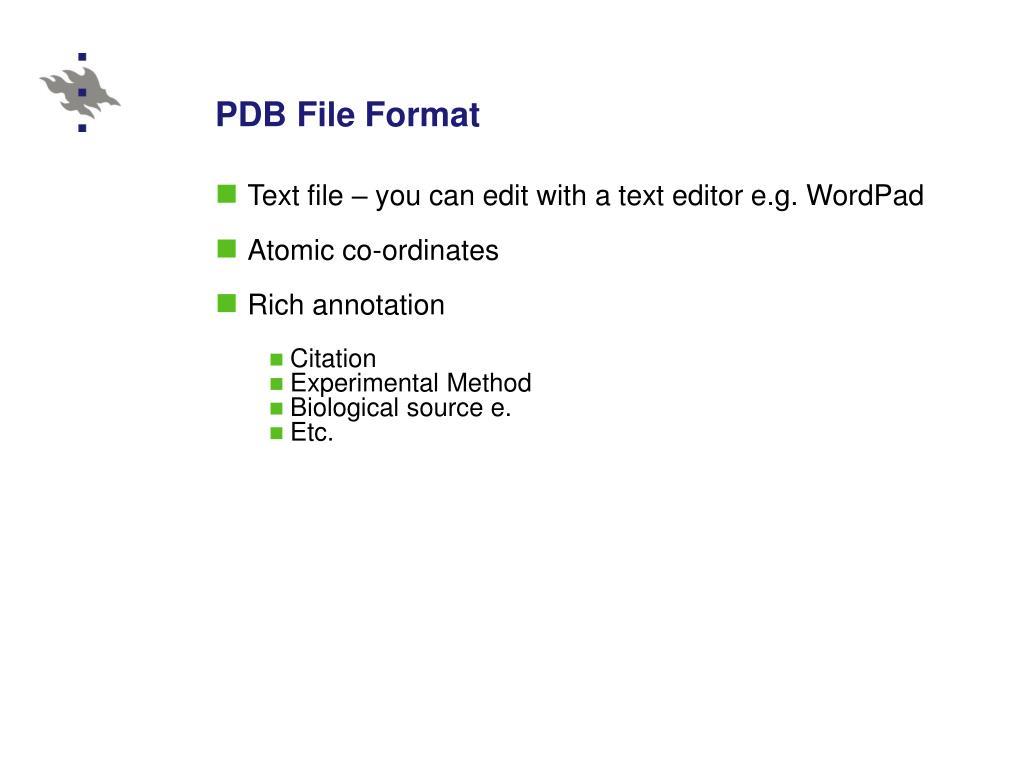 PDB File Format