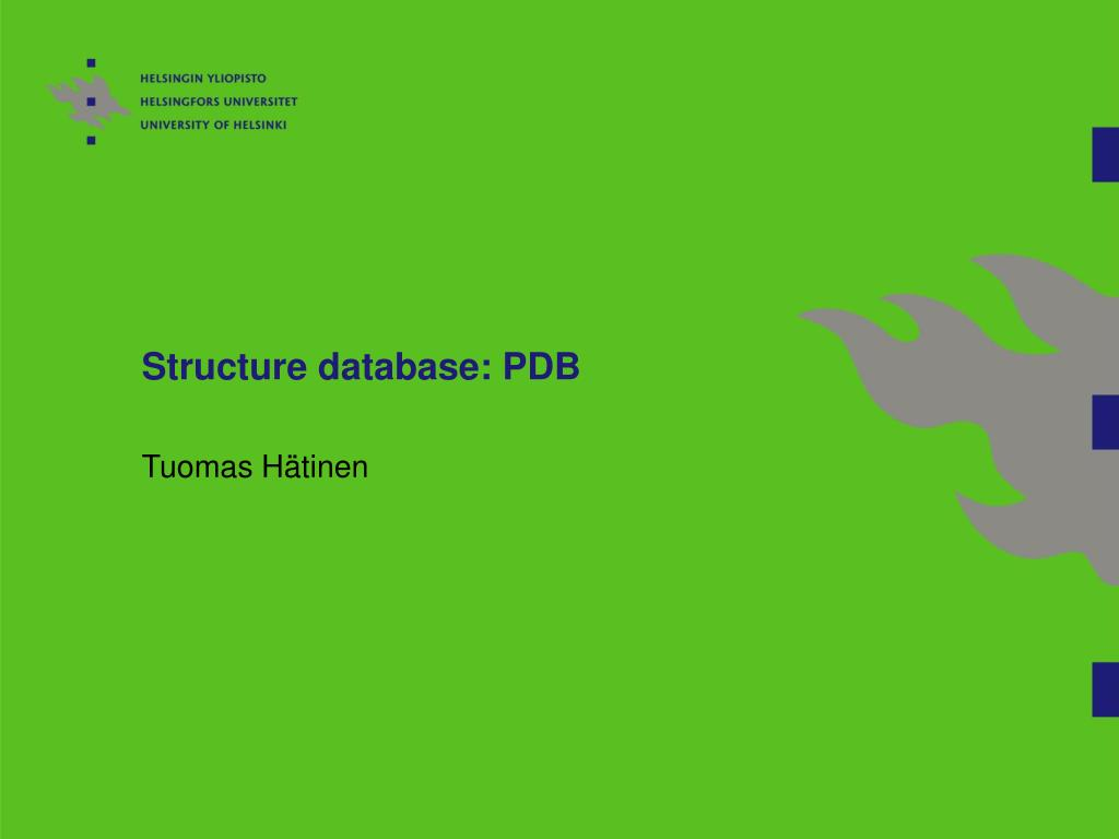 structure database pdb l.