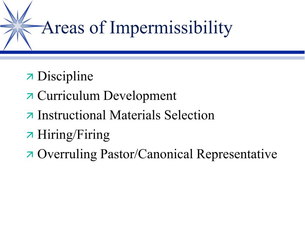 Areas of Impermissibility