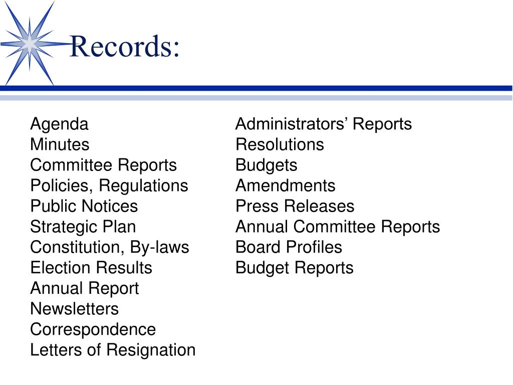 Records: