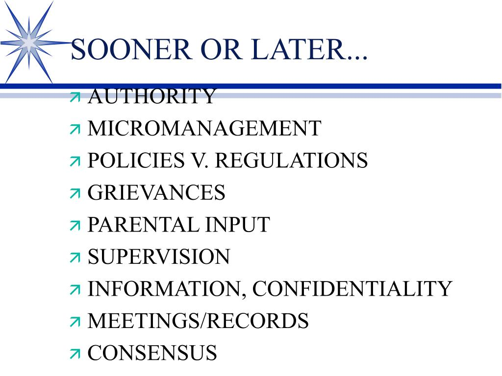 SOONER OR LATER...