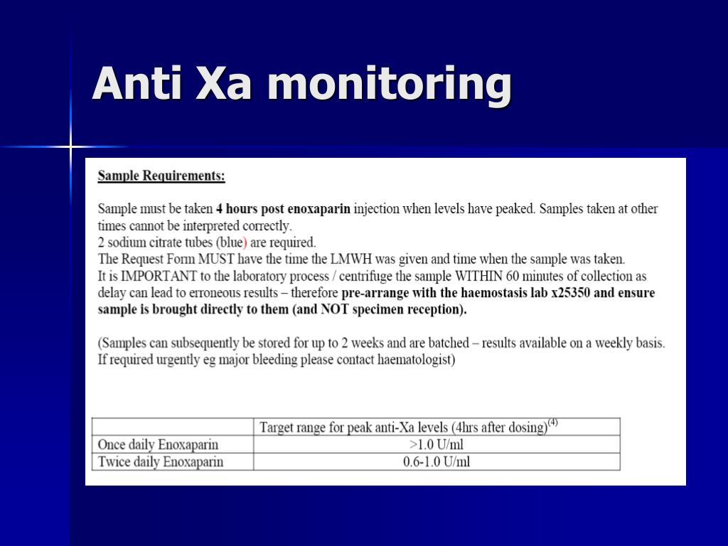 Anti Xa monitoring