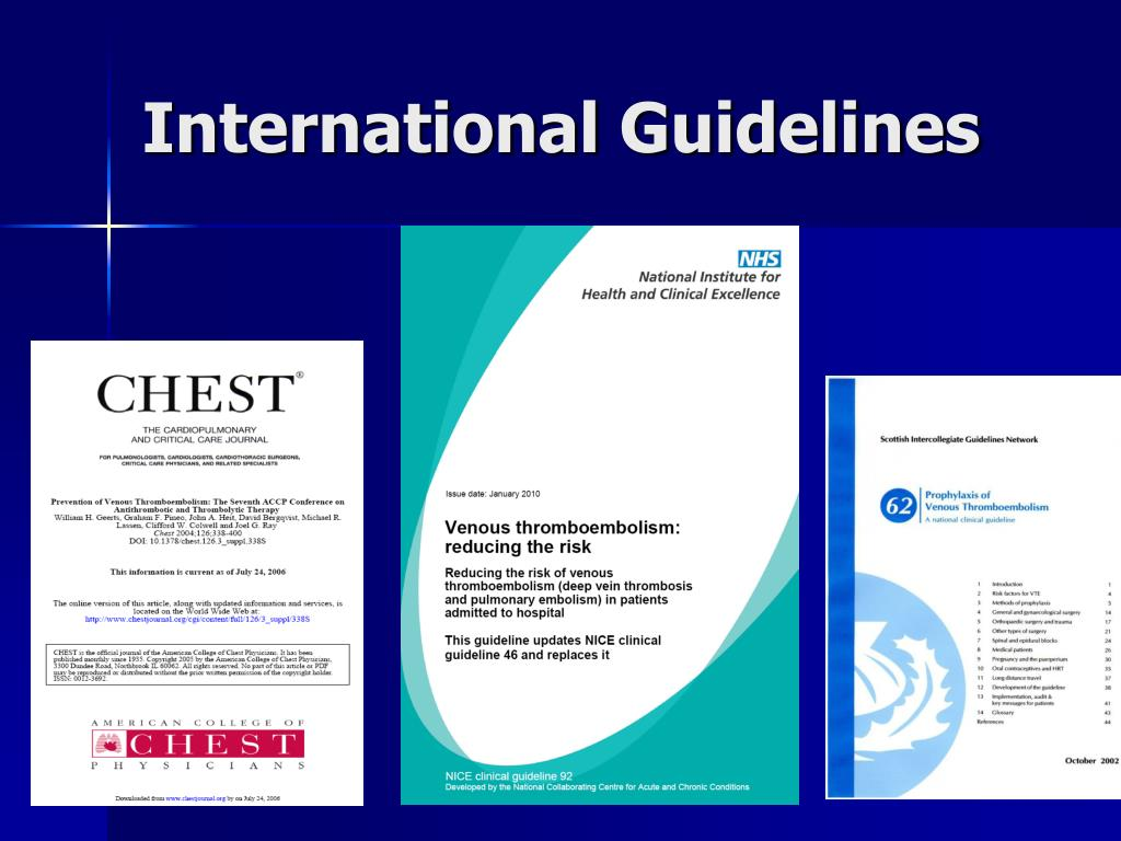 International Guidelines