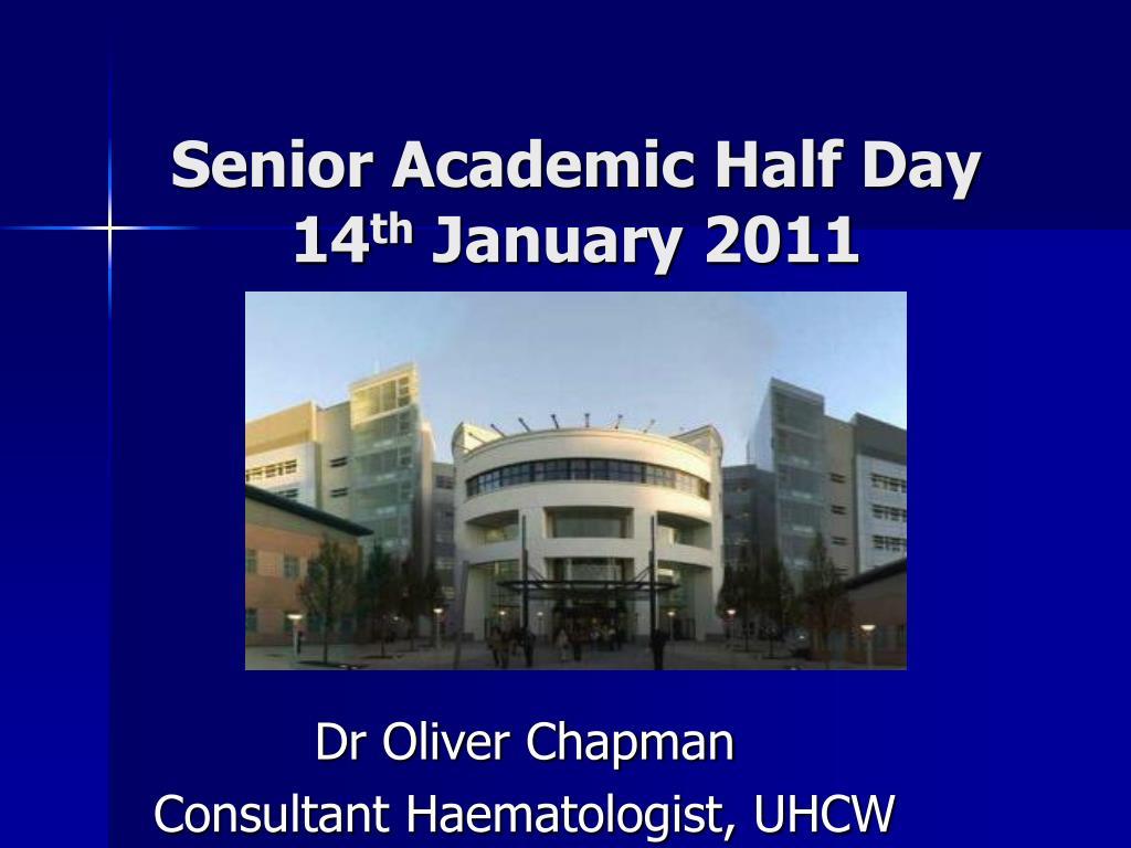 Senior Academic Half Day