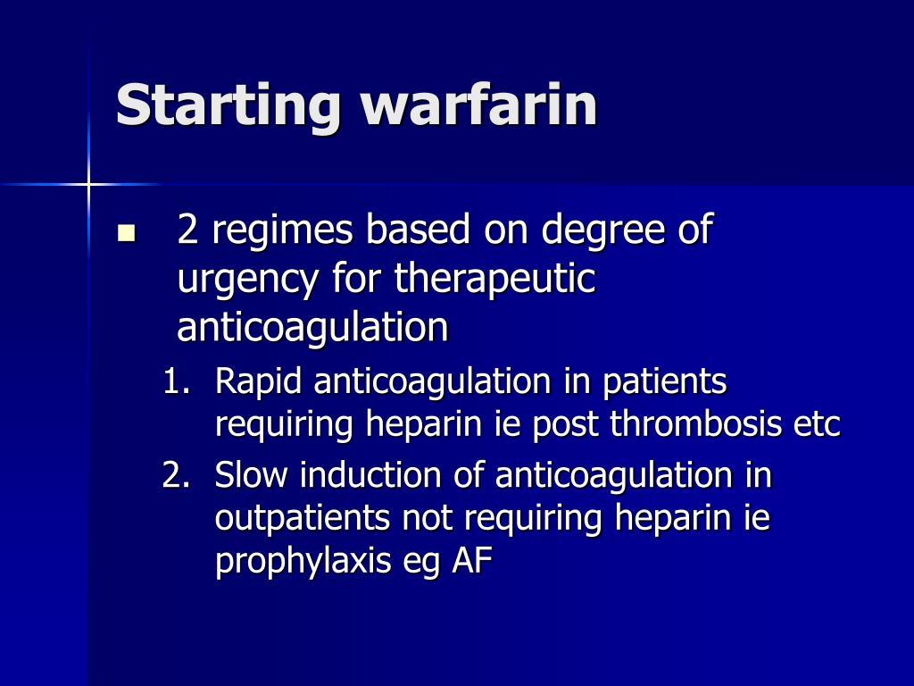 Starting warfarin
