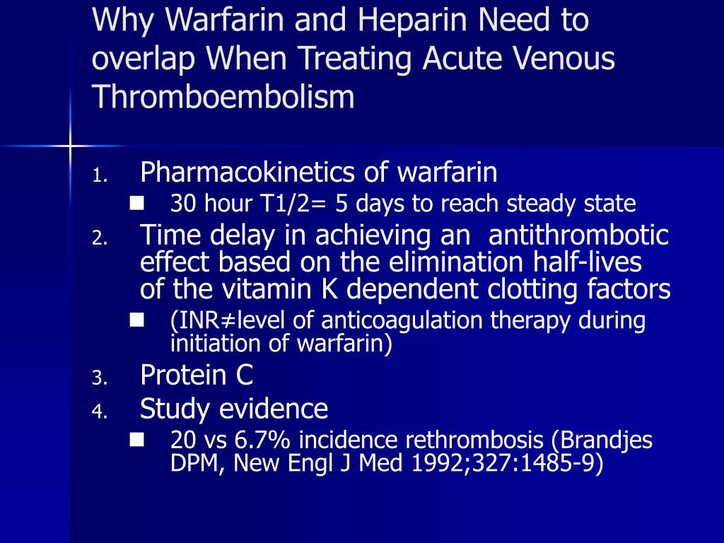Why Warfarin and Heparin Need to overlap When Treating Acute Venous Thromboembolism