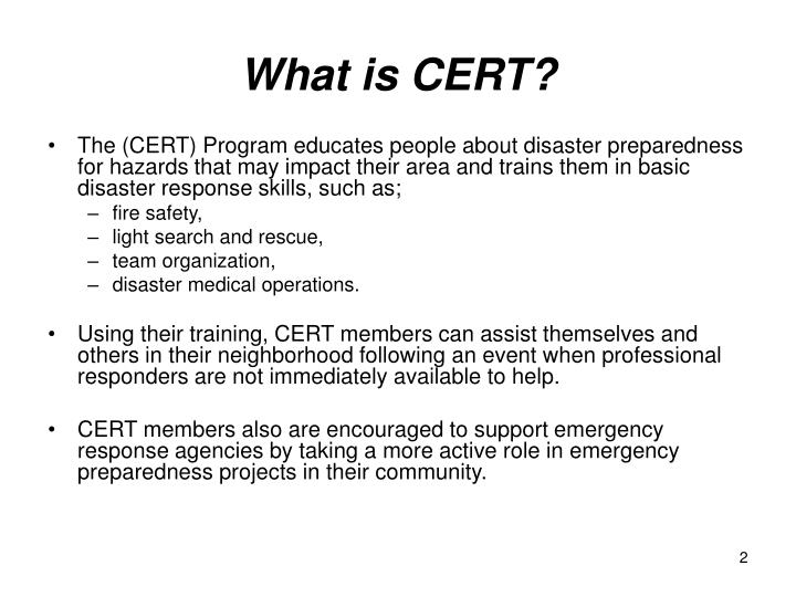 What is cert