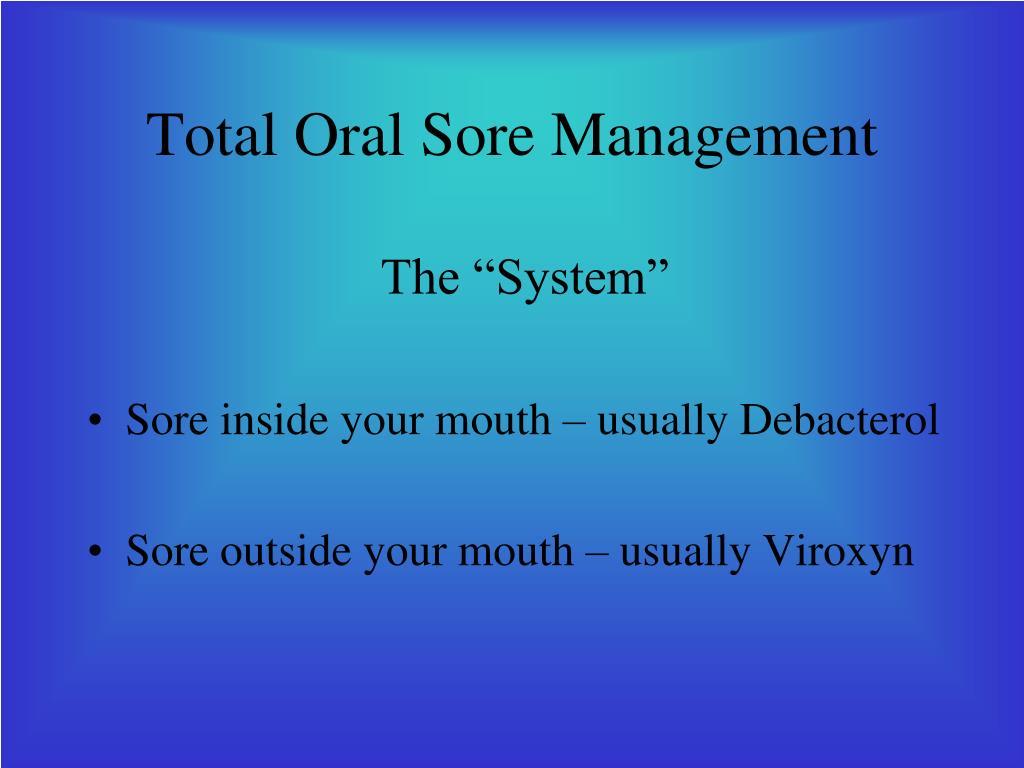 Total Oral Sore Management