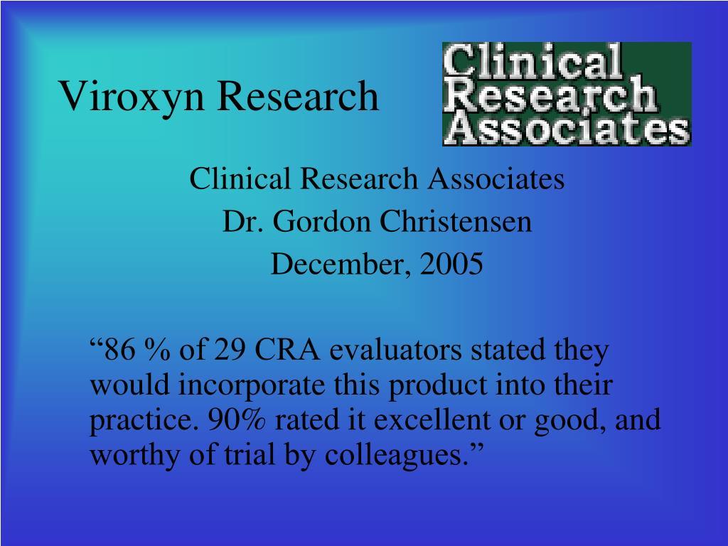 Viroxyn Research