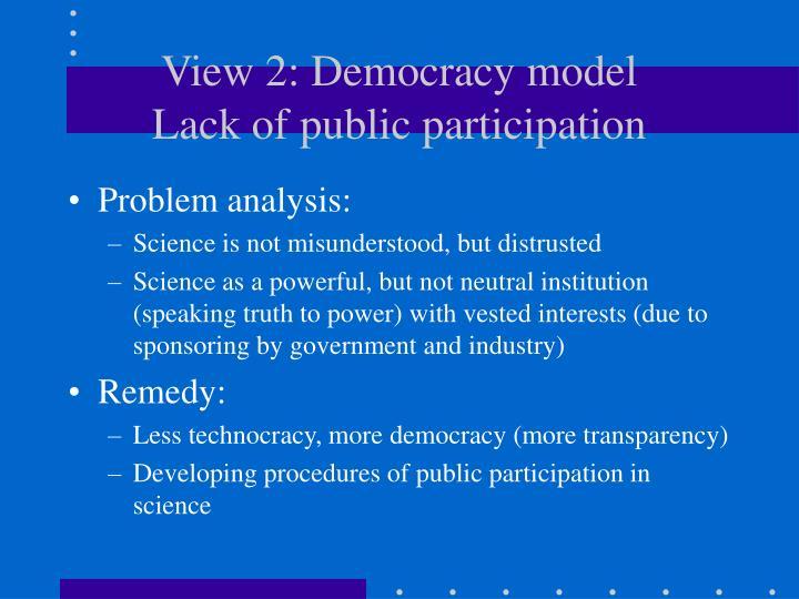 View 2: Democracy model