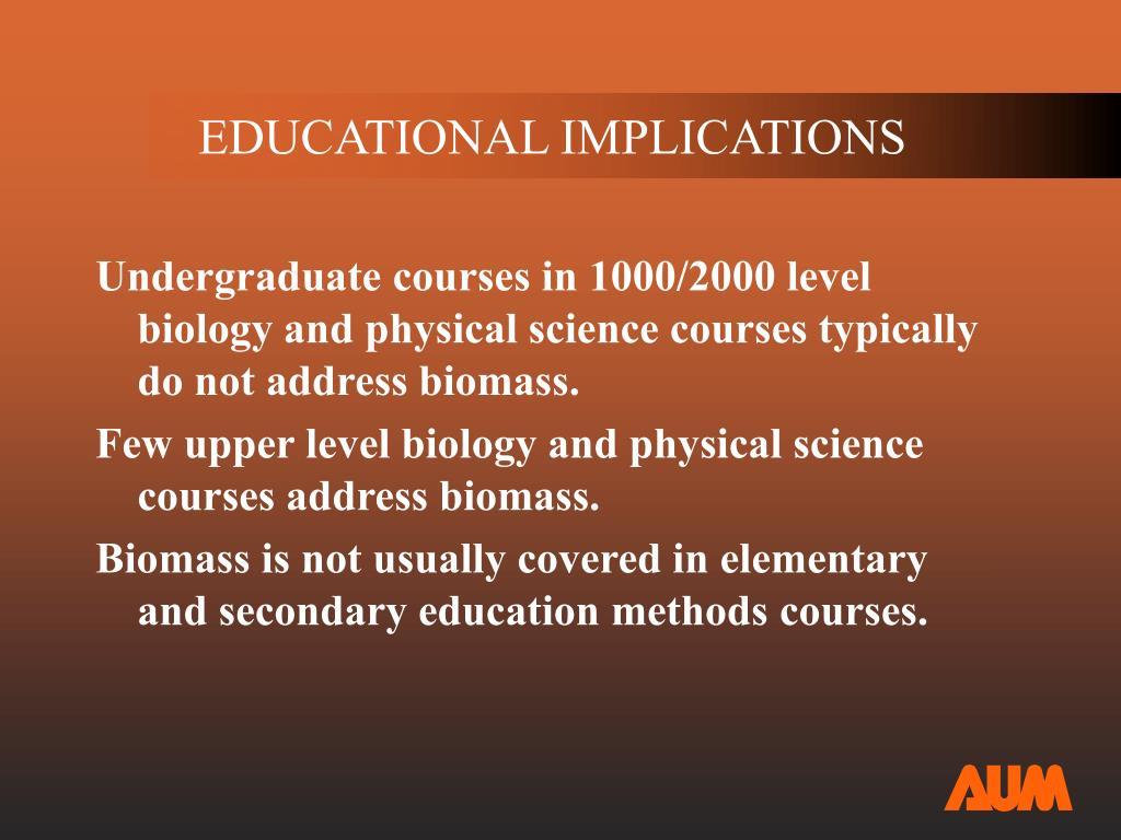 EDUCATIONAL IMPLICATIONS