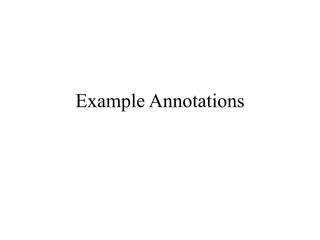 Example Annotations