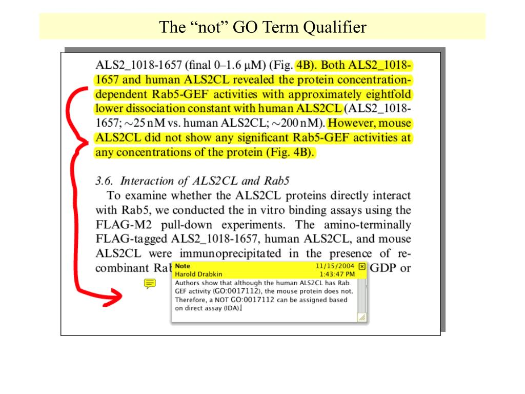 """The """"not"""" GO Term Qualifier"""