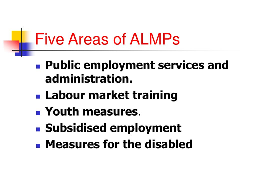 Five Areas of ALMPs