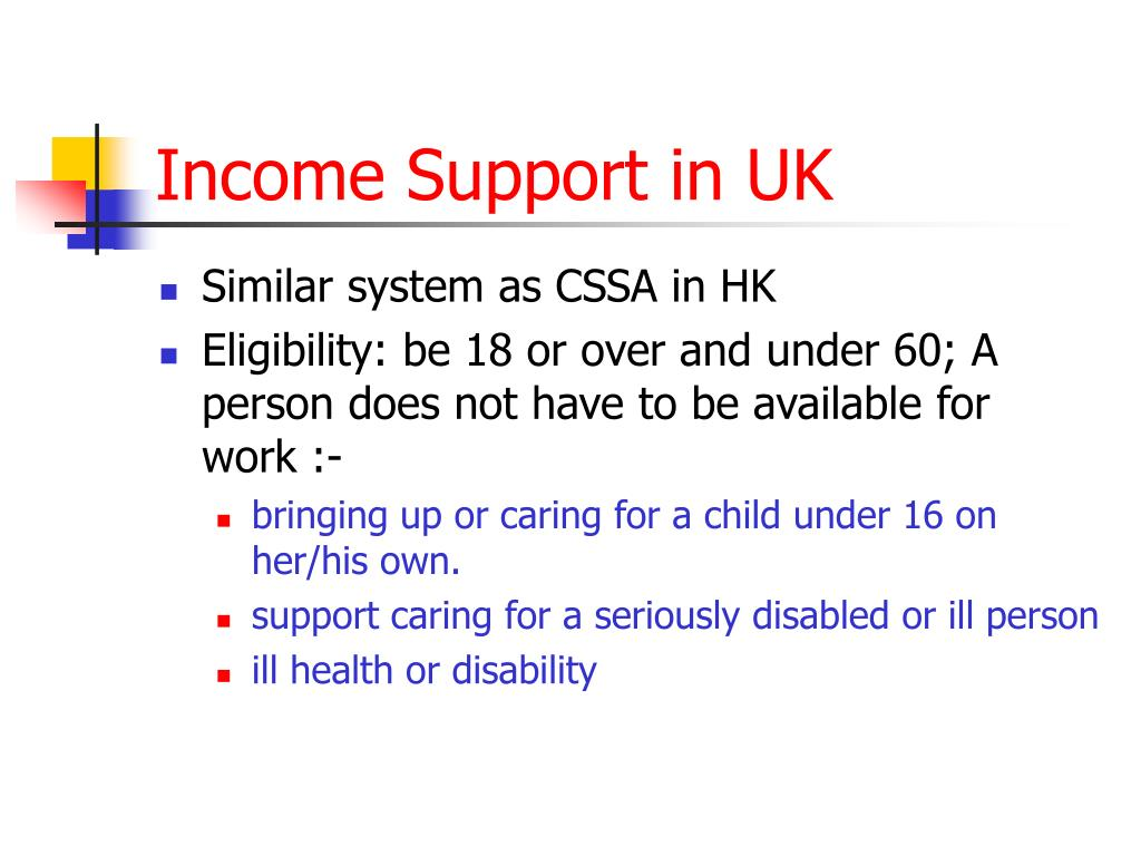 Income Support in UK