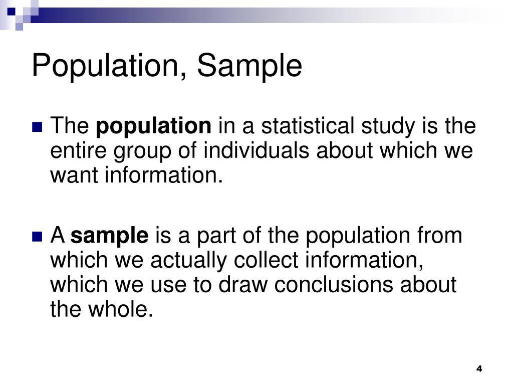 Population, Sample