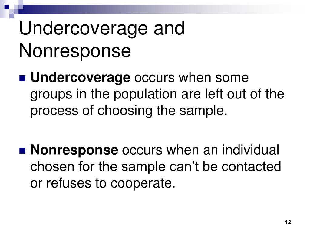 Undercoverage and Nonresponse