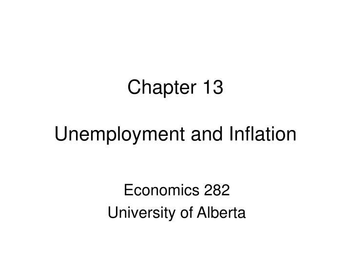 Chapter 13 unemployment and inflation