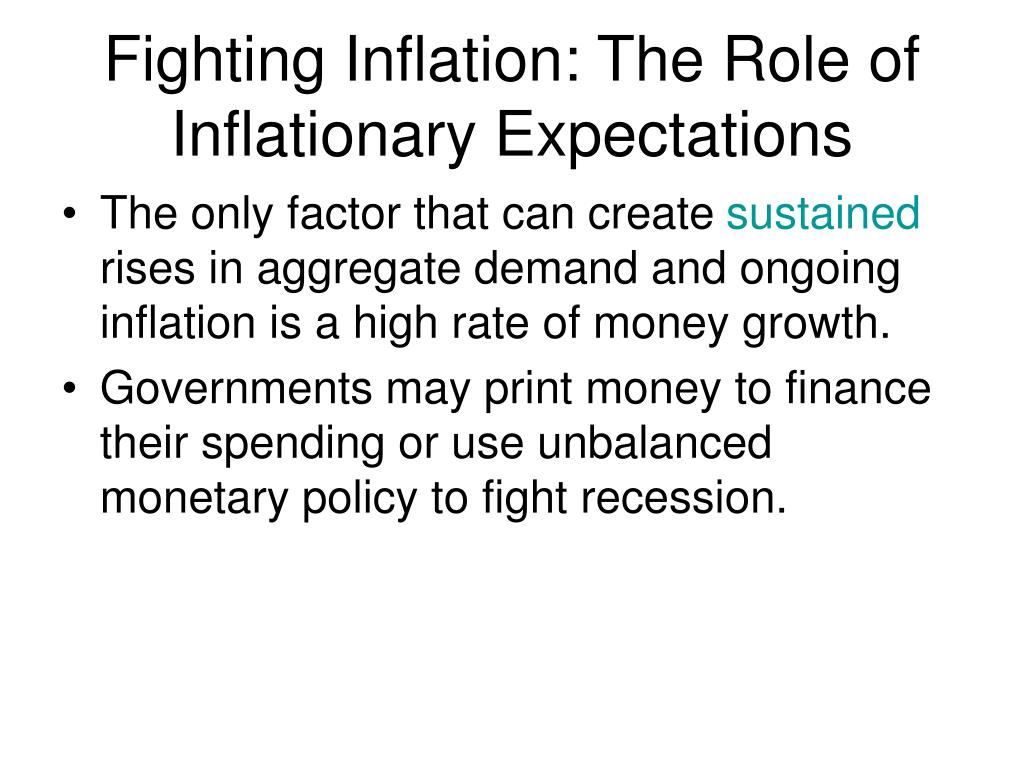 Fighting Inflation: The Role of Inflationary Expectations