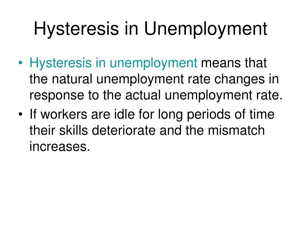 Hysteresis in Unemployment