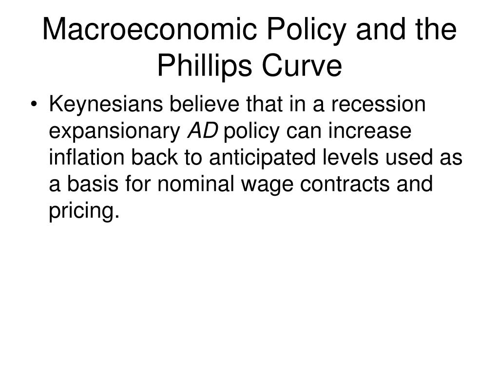 Macroeconomic Policy and the Phillips Curve