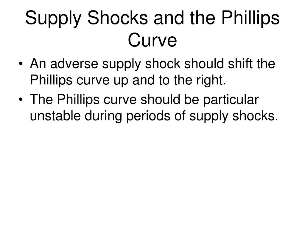 Supply Shocks and the Phillips Curve