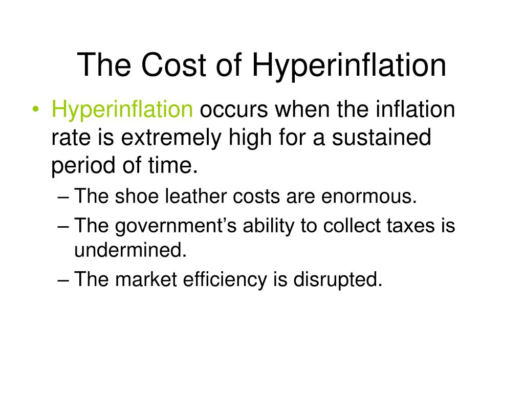 The Cost of Hyperinflation
