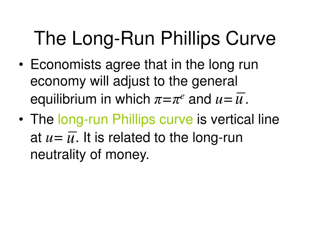 The Long-Run Phillips Curve