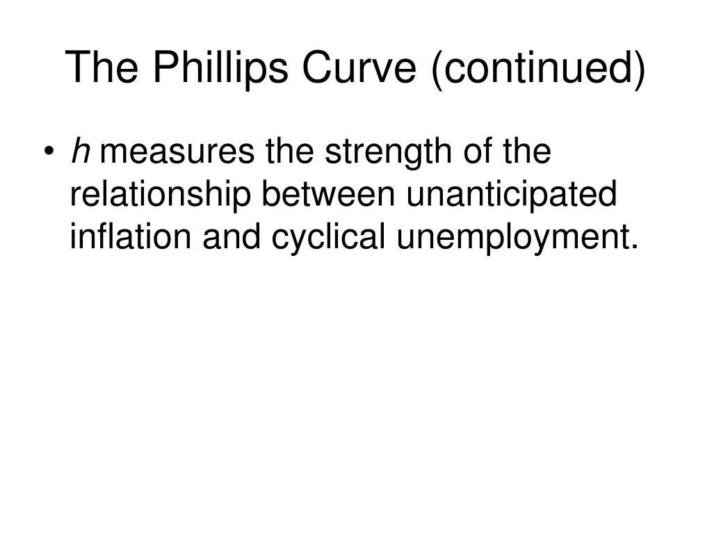 The Phillips Curve (continued)