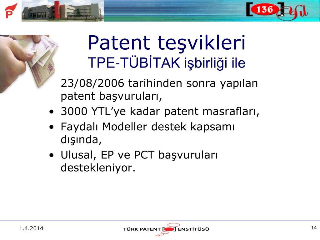 Patent teşvikleri