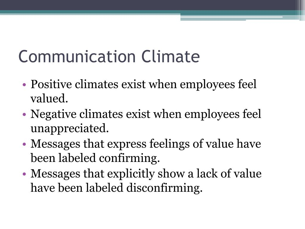 Communication Climate