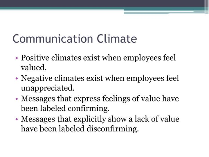 Communication climate3