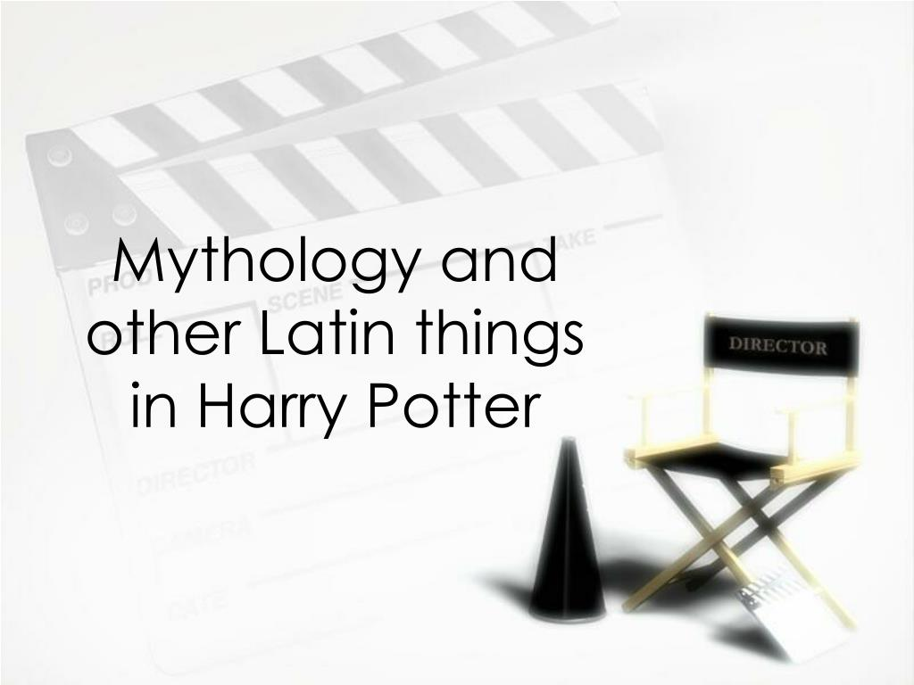 mythology and other latin things in harry potter l.