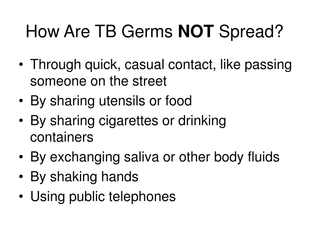 How Are TB Germs