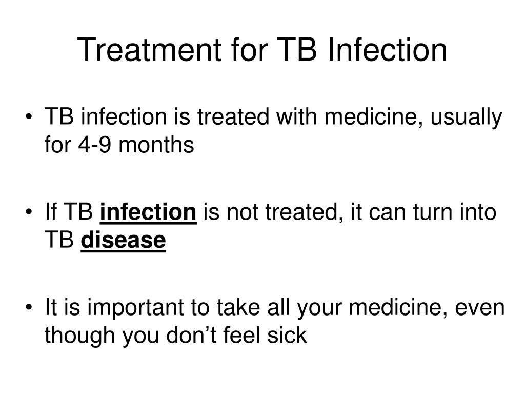 Treatment for TB Infection