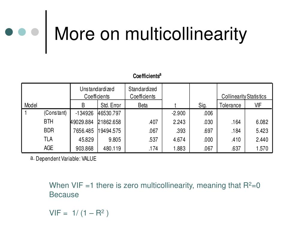 More on multicollinearity