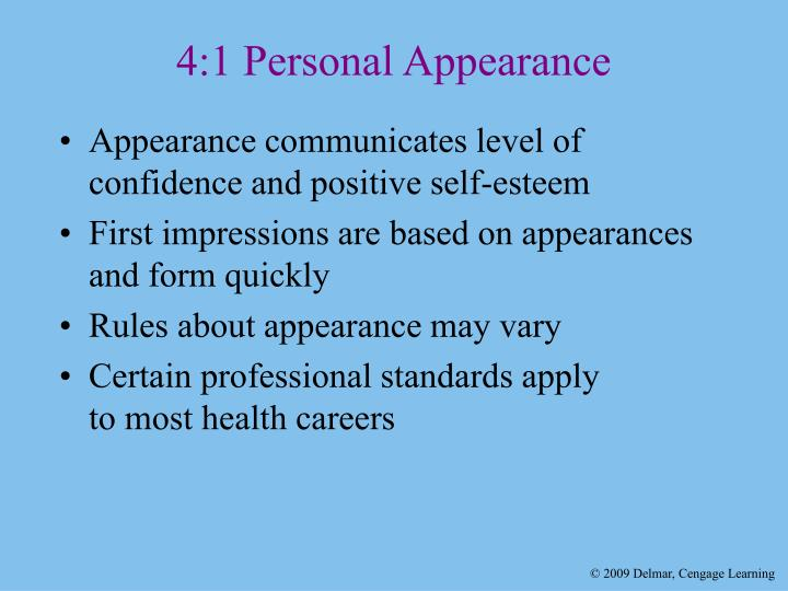 4 1 personal appearance