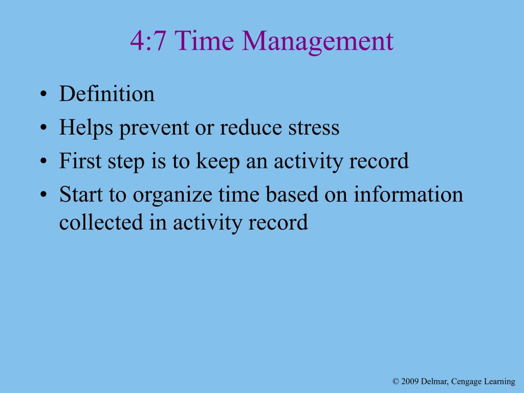 4:7 Time Management