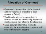 allocation of overhead
